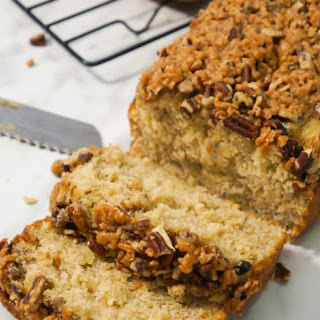 Toffee Pecan Crunch Banana Bread Recipe