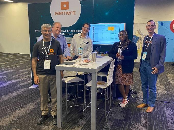 Element team at Connected Plant Conference  Description automatically generated with medium confidence