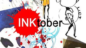 Cartel de la Exposición Un dibujo al día, de Urban Sketchers Almería de Inktober.
