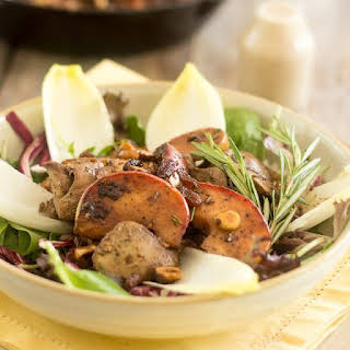 Warm Chicken Liver and Apple Salad.
