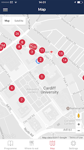 Cardiff University open day- screenshot thumbnail