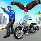 Flying Police Eagle Gangster Crime Shooting Game