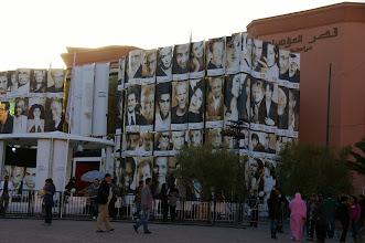 Photo: Podium du festival cinéma de Marrakech