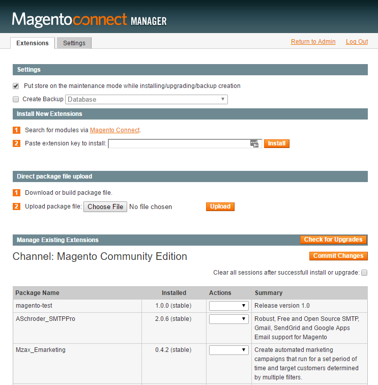 Magneto connect manager
