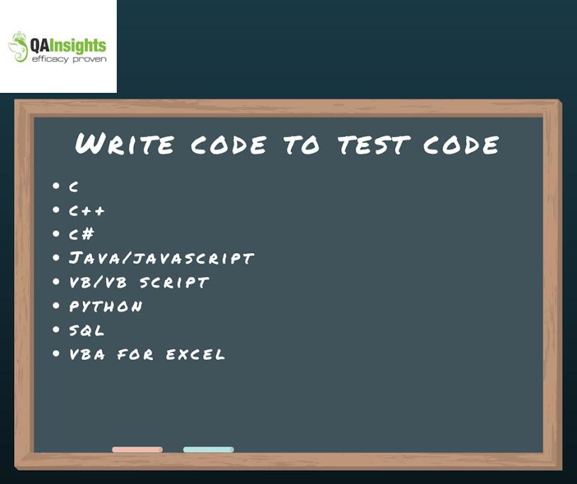 Write code to test code