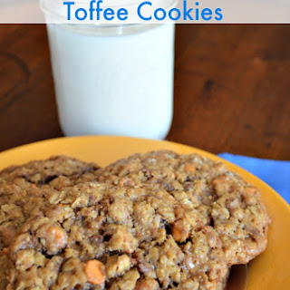 Oatmeal Butterscotch Toffee Cookies
