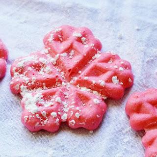 Red Cinnamon Belgian Waffle Cookies