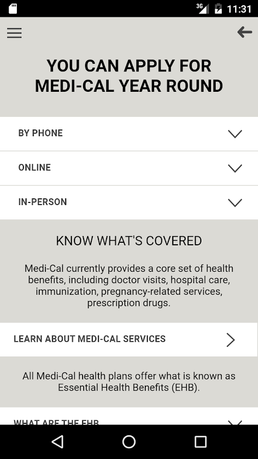 Medi-Cal App- screenshot