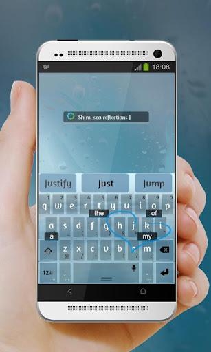 玩免費個人化APP|下載シャイニー海反射 TouchPal テーマ app不用錢|硬是要APP