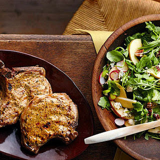Dijon Pork Chops with Apple Salad