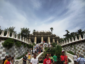 Photo: Main entrance to Park Guell, another Gaudi project