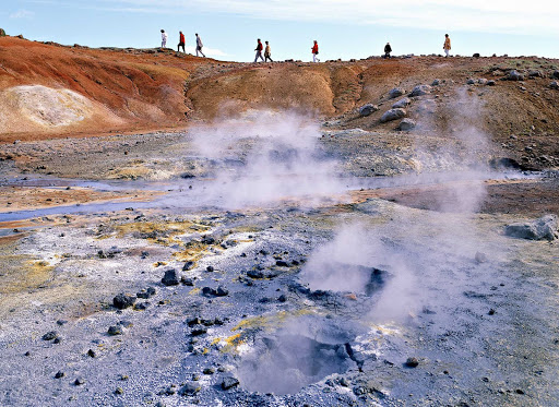 Iceland-Namaskard-sulfur-pools.jpg - Sulfur pools, heated by the earth, at Namaskard in Iceland.