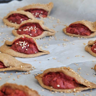 Almonds Sunflower Seeds And Beets Filled Saucy Empanadas