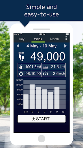 Pedometer app (apk) free download for Android/PC/Windows screenshot