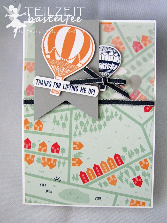 Stampin' Up! - In{k}spire_me #297, Designerpapier Traum vom Fliegen, SAB 2017, DSP SAB, Abgehoben, Lift me Up, Framelits In den Wolken, Up and Away Framelits, Banner, vellum