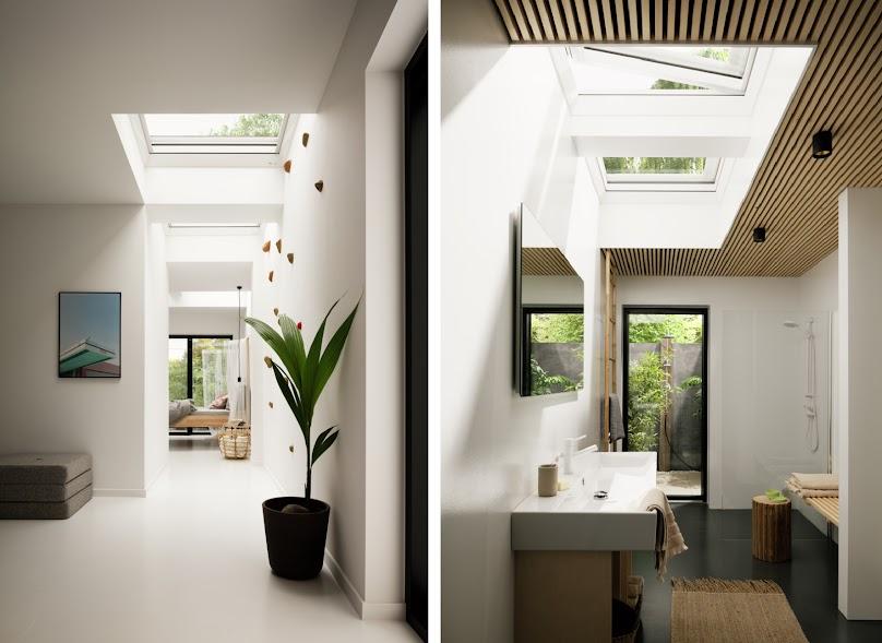 Okna VELUX do płaskich dachów otwierane elektrycznie