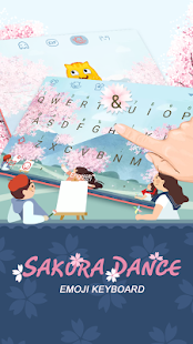 Sakura Dance Theme&Emoji Keyboard - náhled