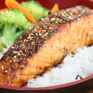 Miso Maple Glazed Salmon Rice Bowl