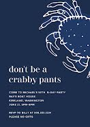 Don't Be a Crabby Pants - Birthday item