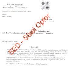 """Photo: SED - Stasi Opfer werden """"moralisch"""" rehabilitiert"""