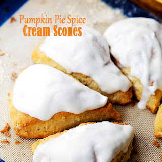Pumpkin Pie Spice Cream Scones