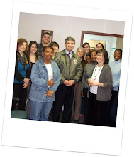 Photo: Staff at the PathWays PA Holmes office gather to meet the Congressman.