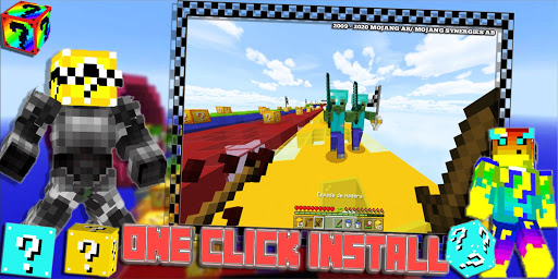 Lucky Craft Mods: Lucky Block Race Mod For MCPE 3 17