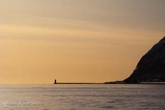 Photo: Høgstein light at the island Godøya, outside Ålesund