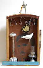 "Photo: Tesla and Electric Charges, 23 x 13 x 4"", assemblage"