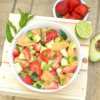 Minty Strawberry Avocado Salad With Citrus.