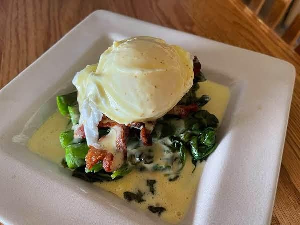 Duck Eggs Benedict W. Spinach Asparagus & Bacon