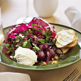 Roasted Beet, Walnut and Goat Cheese Salad.