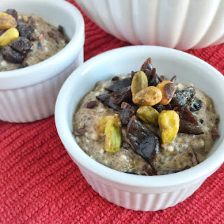 Dried Plum and Pistachio Chia Pudding.
