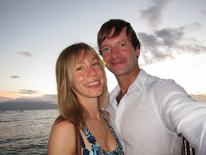 Photo: Us on the sea-front on our last evening.