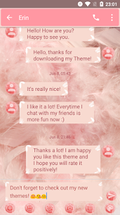 SMS Messages Fluffy Feather Theme - náhled