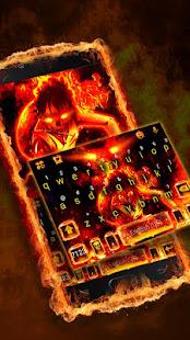 Flaming Fire Battle Keyboard Theme