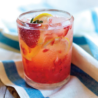 Spiked Strawberry Lemon Spritzer.