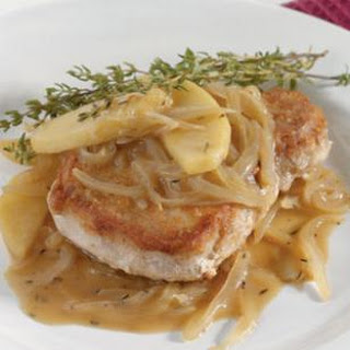 Pork Chops with Apples & Thyme.
