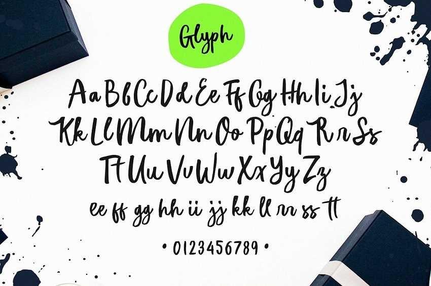 Font chữ  Hillmark Typeface phong cách cho thiết kế