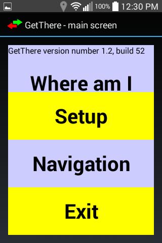 GetThere GPS nav for blind
