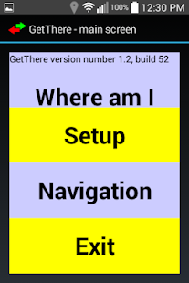 GetThere GPS nav for blind- screenshot thumbnail