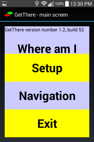 GetThere GPS nav for blind- screenshot