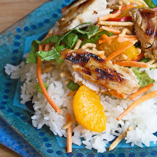 Grilled Teriyaki Chicken Salad with Sweet Teriyaki Vinaigrette.