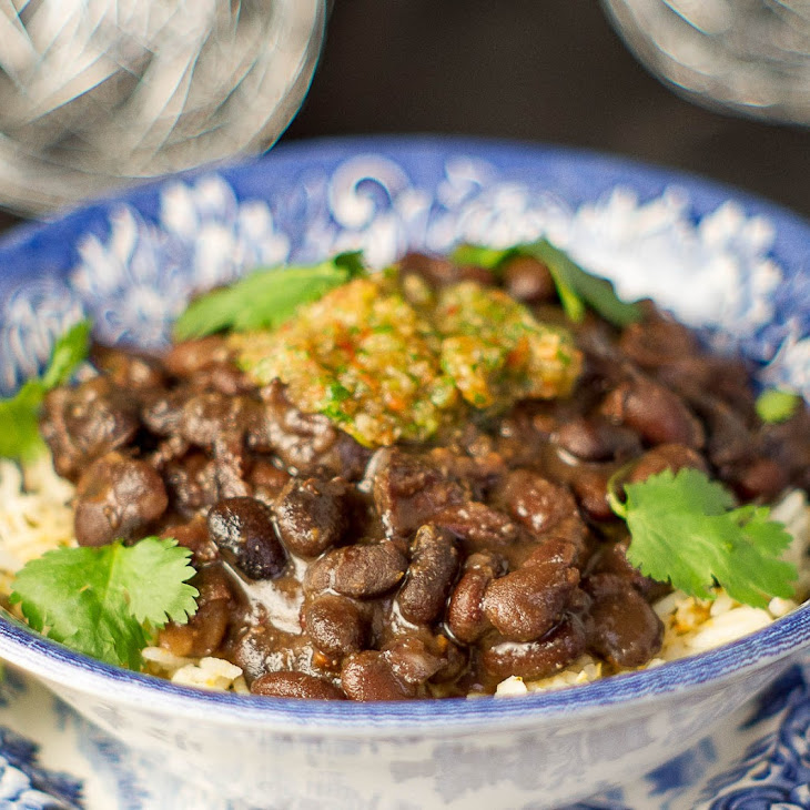 Black Beans With Sofrito in the Pressure Cooker