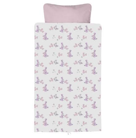 BabyDan Påslakanset för spjälsäng, Bunnyhop, Baby Pink