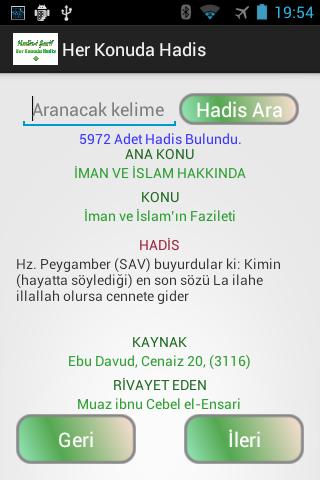 Her Konuda Hadis Apk Download Free for PC, smart TV