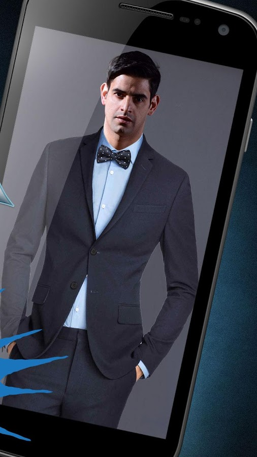 Men fashion suit photo montage online for free