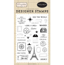 Carta Bella Cartography No1 Stamp Set - See The World