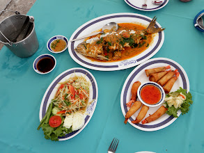 Photo: Sea bass with coconut chile sauce Hua Hin Thailand