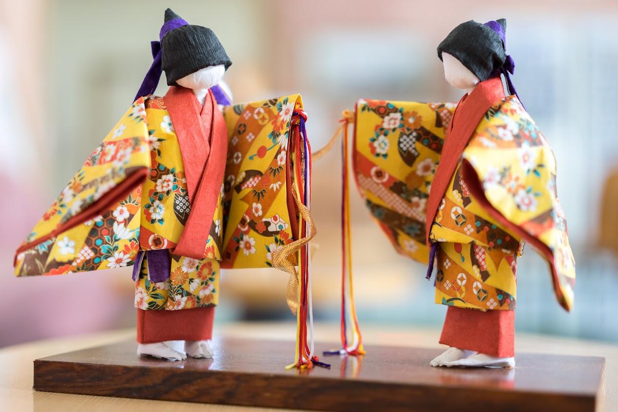 和紙人形・琉球舞踊